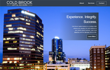 Thumbnail of website for Cold Brook Capital Advisors