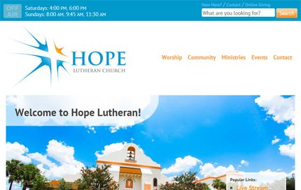 Thumbnail of website for Hope Lutheran Church - The Villages