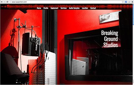 Thumbnail of website for Breaking Ground Studios