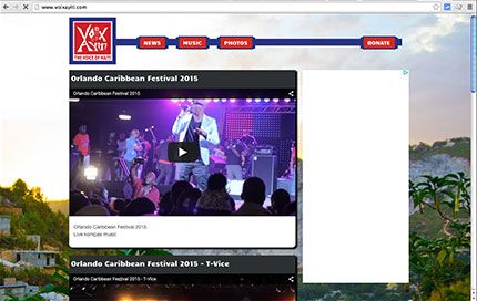 Thumbnail of website for Voix Ayiti
