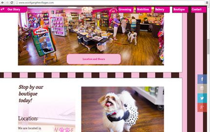 Thumbnail of website for Woof Gang Bakery & Grooming - The Villages